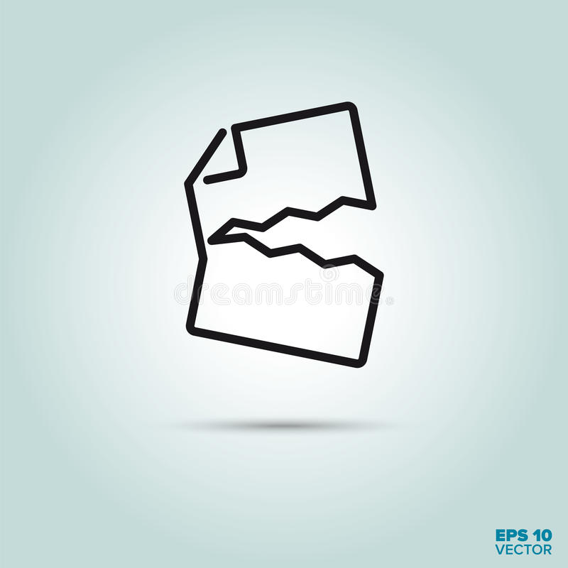 Torn document line icon. Ripped document Line Icon Vector royalty free illustration