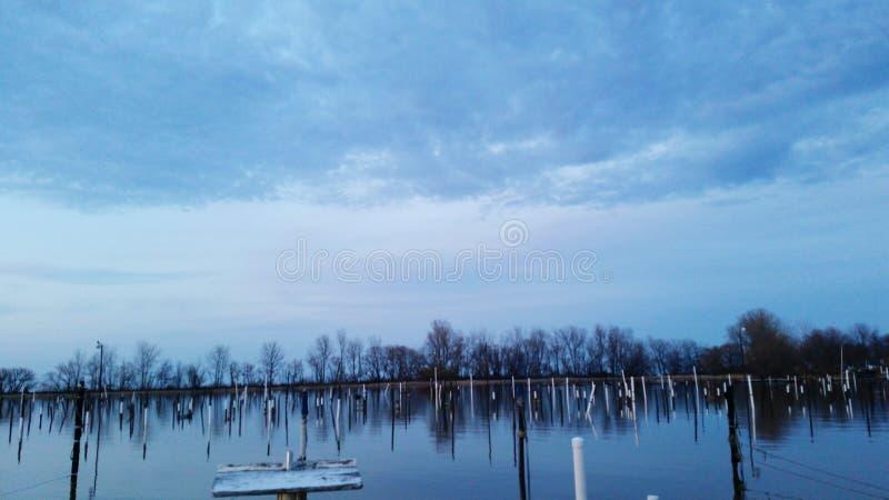 Torn down docks royalty free stock photos
