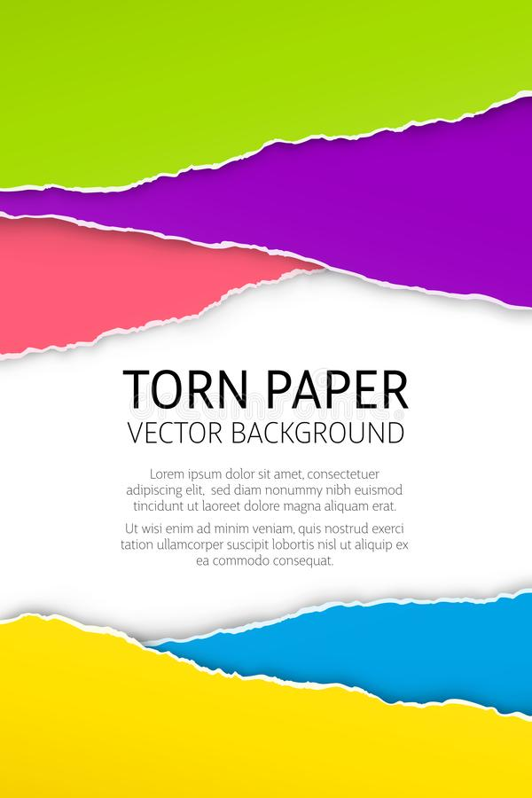 Torn edge paper background stock illustration