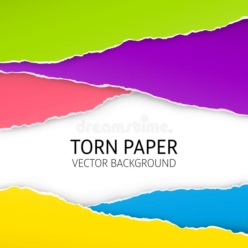 Torn edge paper background royalty free illustration