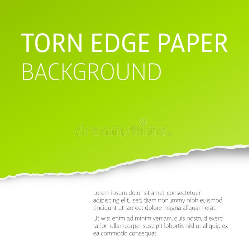 Torn edge paper vector background royalty free illustration