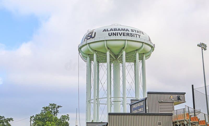 Torn för Alabama delstatsuniversitetvatten royaltyfria foton