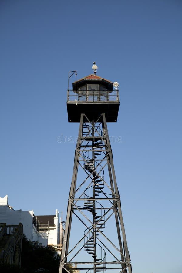 torn för alcatrazguardö royaltyfria foton