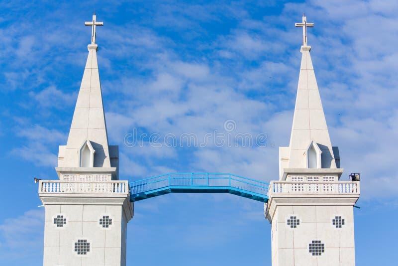 torn för anna tvilling- cathedal katolsk kyrkasaint royaltyfri bild