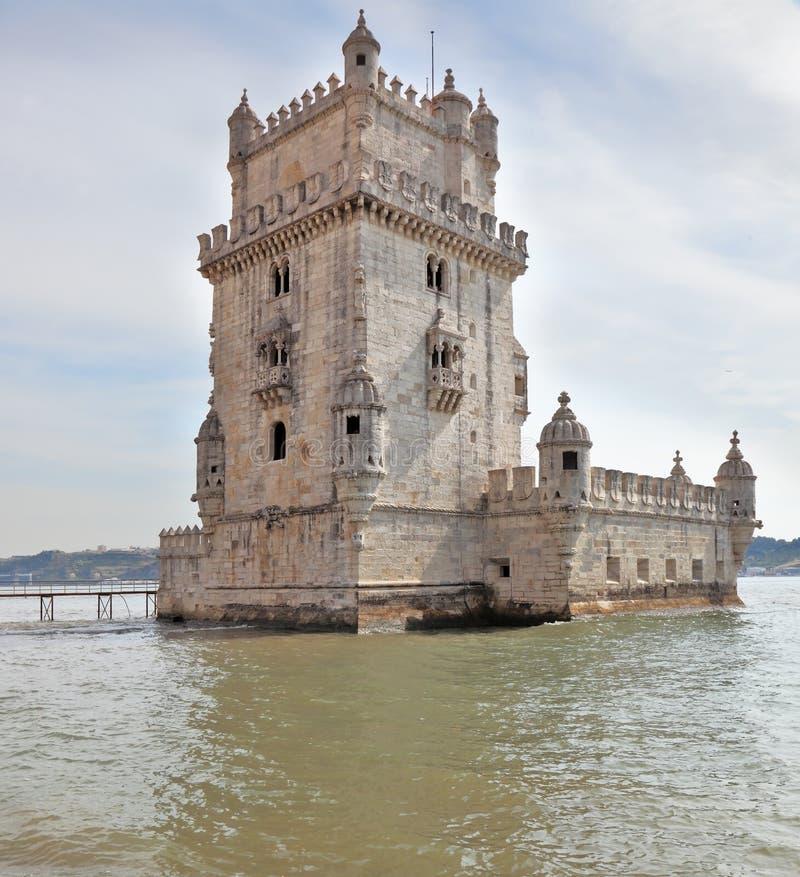 torn för belem berömdt moorishstil royaltyfri foto