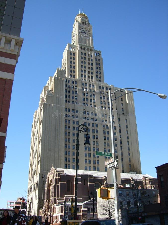 torn för brooklyn byggnadsklocka royaltyfria foton
