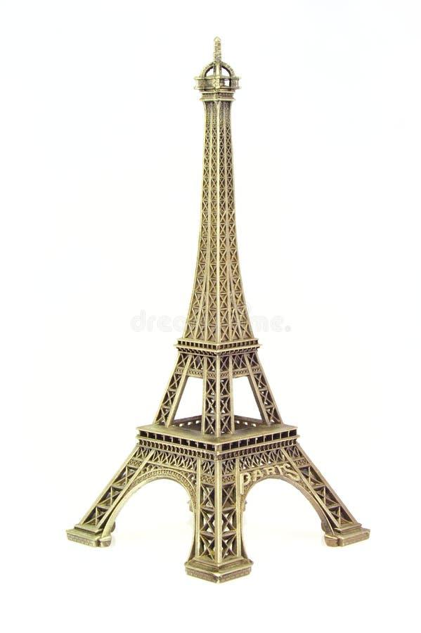 torn för eiffel figurineguld arkivfoton