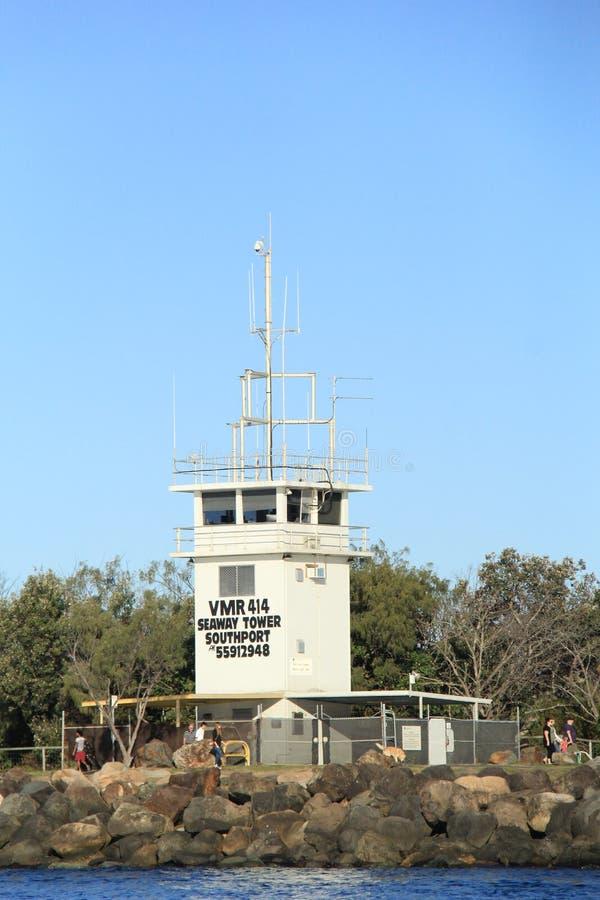 Torn för havsvägradiokommunikation arkivfoton