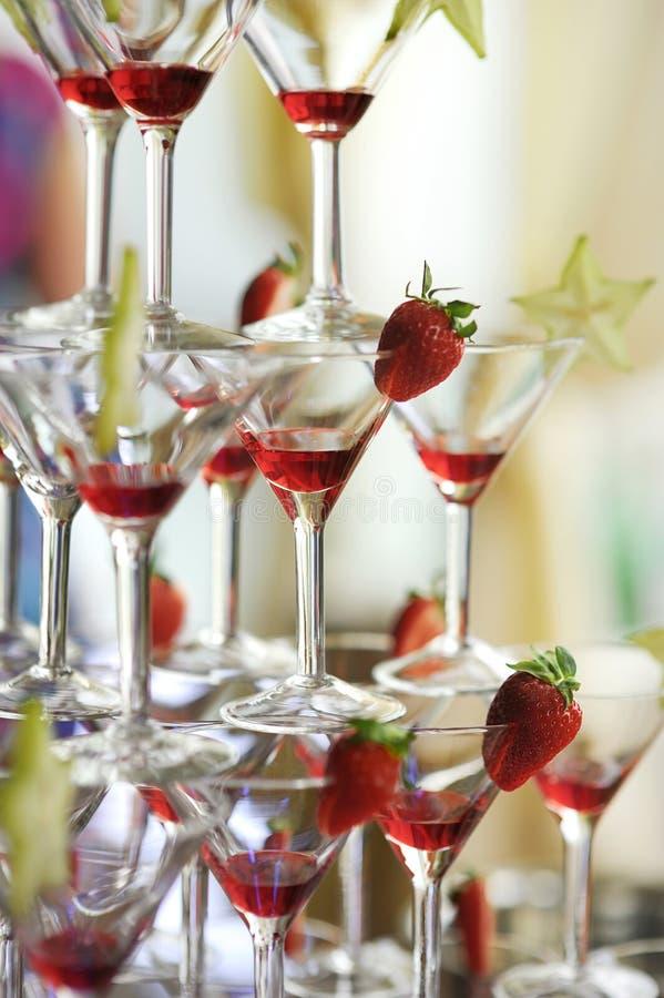 torn för jordgubbar för coctaildeliciuos rött royaltyfria bilder