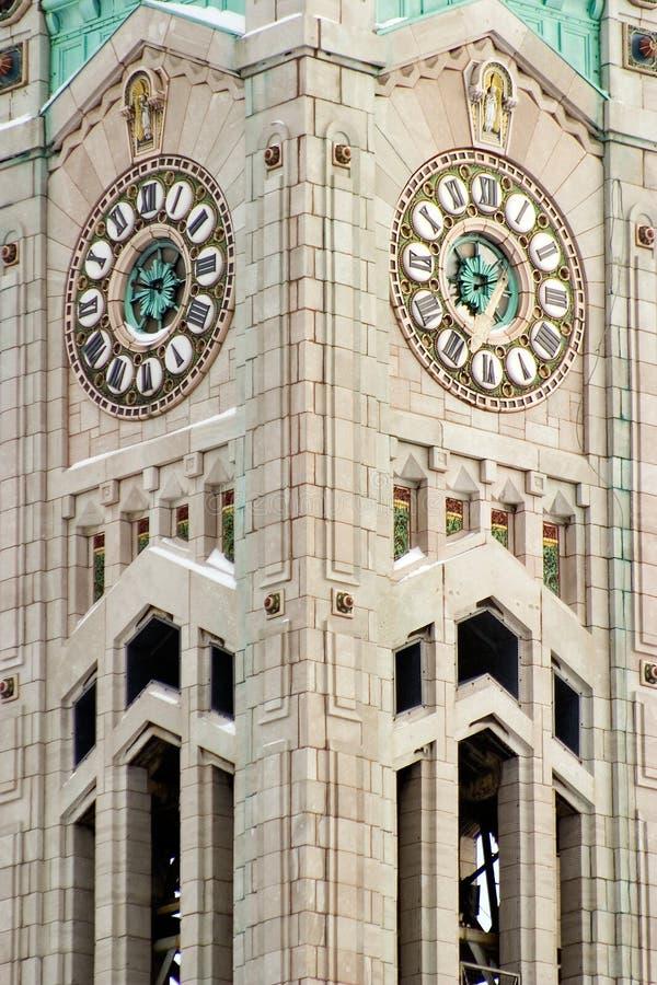 torn för klocka 3 royaltyfria foton