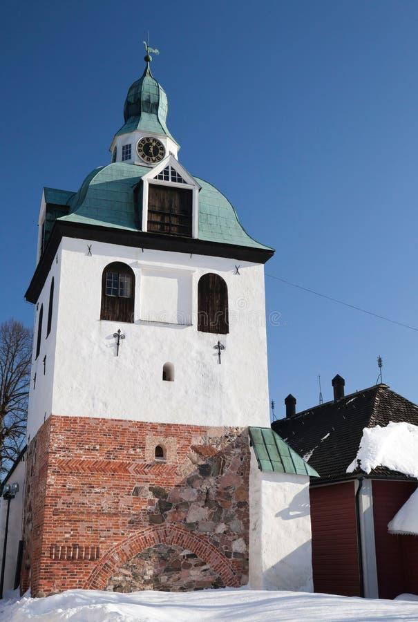 torn för klockafinland porvoo fotografering för bildbyråer