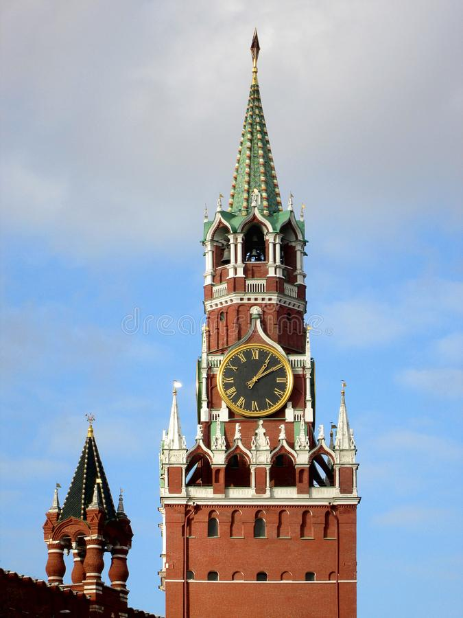 torn för kremlin moscow rött russia spasskayafyrkant Ryssland royaltyfri foto