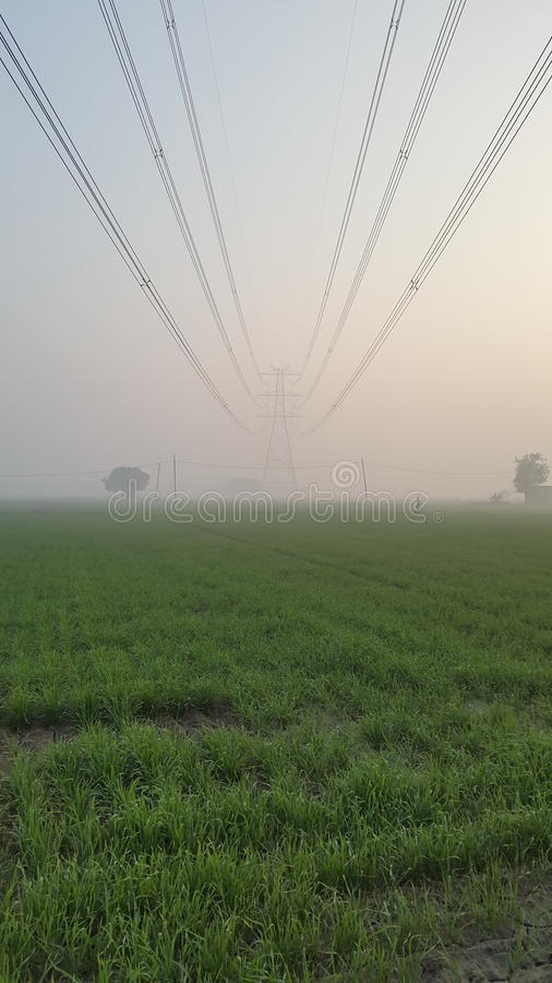 Torn för maktraster och för elektricitetstillförsel i New Delhi, Indien royaltyfri bild