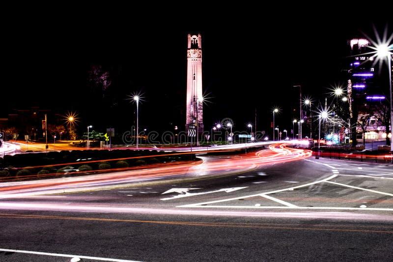 Torn för NCSU Klocka royaltyfri fotografi