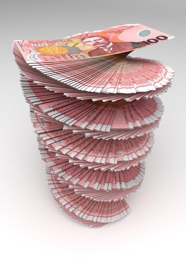 Torn för nyazeeländsk dollar stock illustrationer