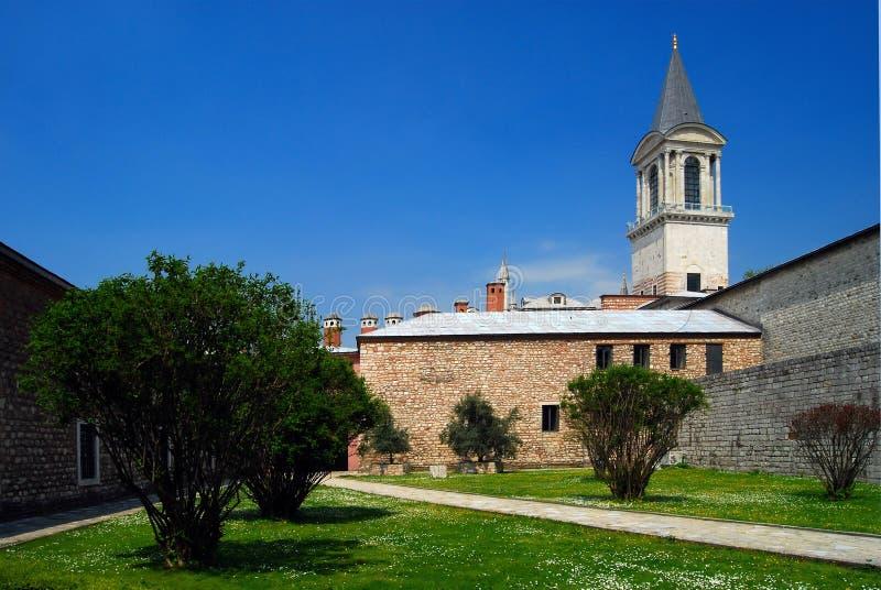 torn för rättvisaslotttopkapi arkivbild
