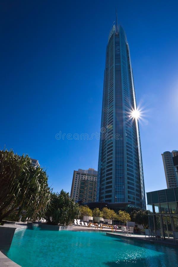 torn för surfarear för kustguldparadis q1 royaltyfri fotografi