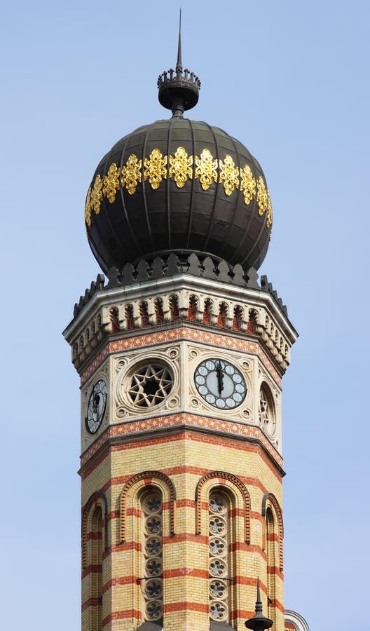 torn för synagoga för budapest kupollök royaltyfri fotografi
