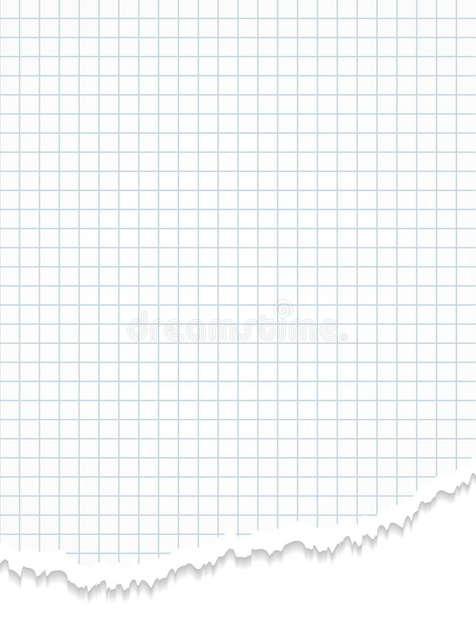 torn grid paper  stock vector  illustration of notepaper