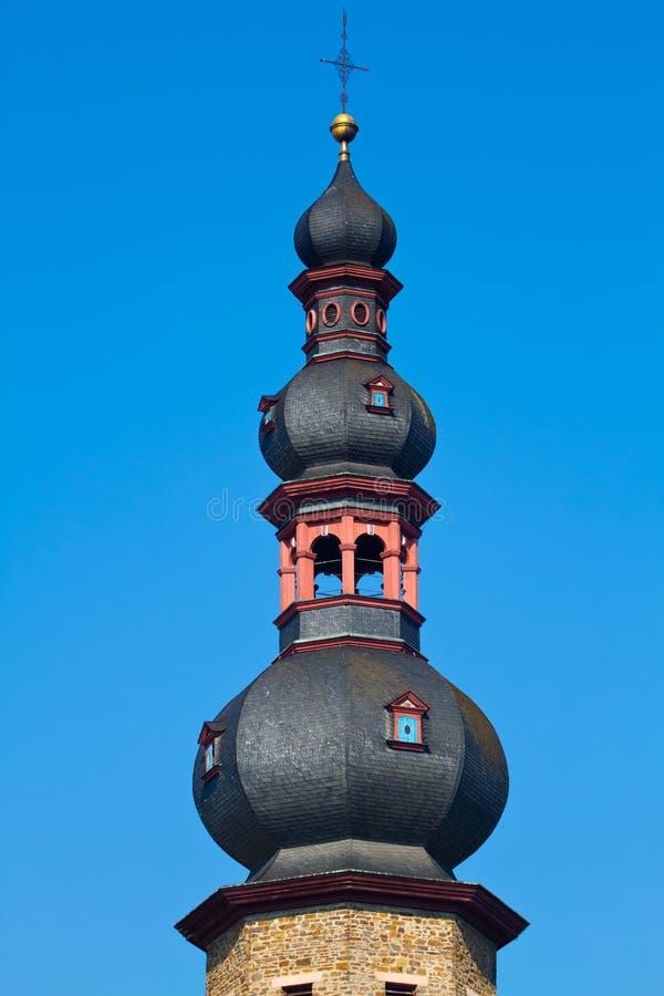Torn i Cochem, Tyskland fotografering för bildbyråer