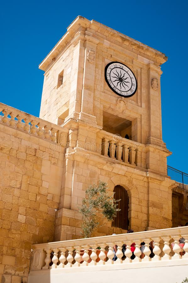 Torn i den medeltida citadellen av Gozo royaltyfria foton