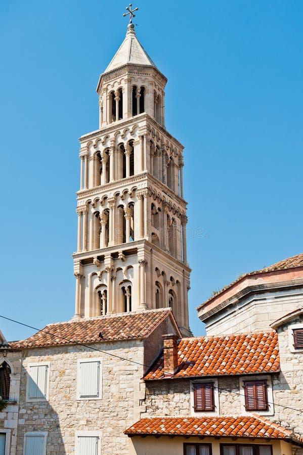 Torn i spliten, Kroatien arkivbilder
