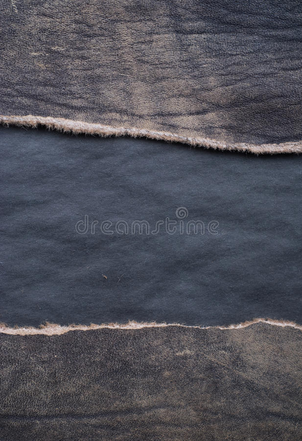 Torn leather royalty free stock images