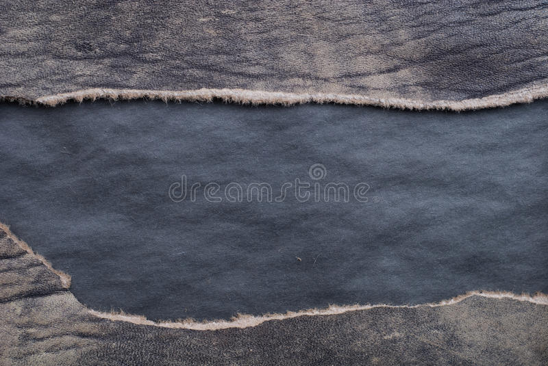 Torn leather stock photo