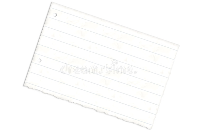 Torn Lined Paper Stock Photography