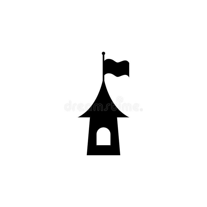 torn med flaggakonturn Beståndsdel av sagahjälteillustrationen Högvärdig kvalitets- symbol för grafisk design Tecken och symbolco stock illustrationer