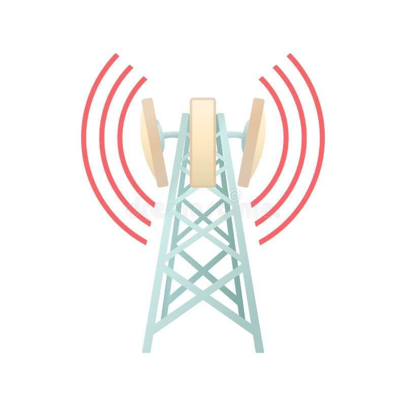 Torn med symbolen för telekommunikationutrustning vektor illustrationer