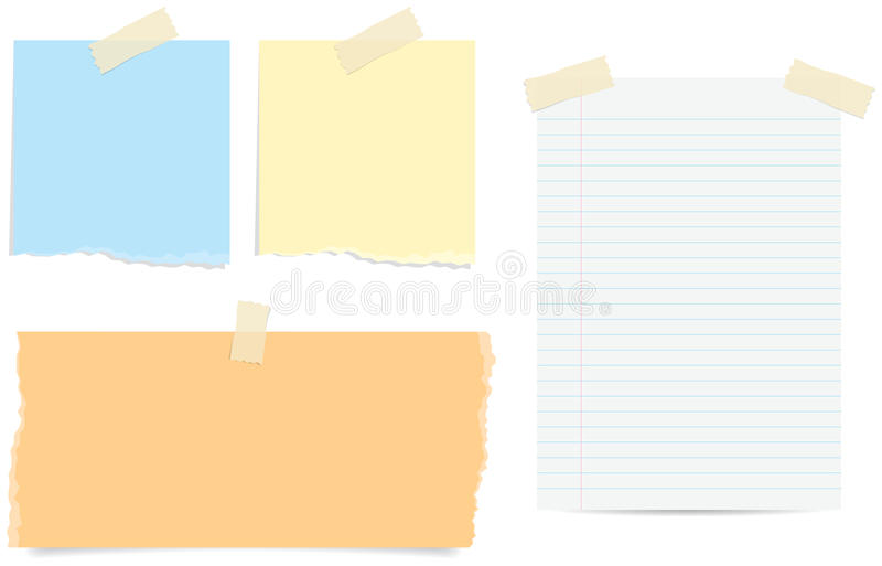 Torn Note Papers stock image