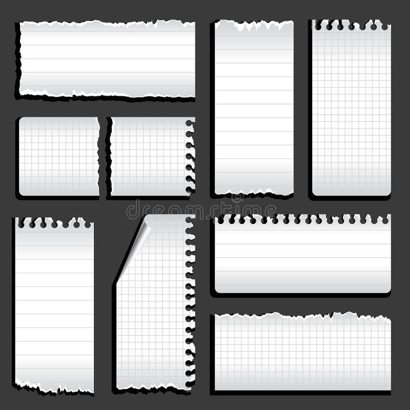 Download Torn notebook stock vector. Illustration of elements - 27101522