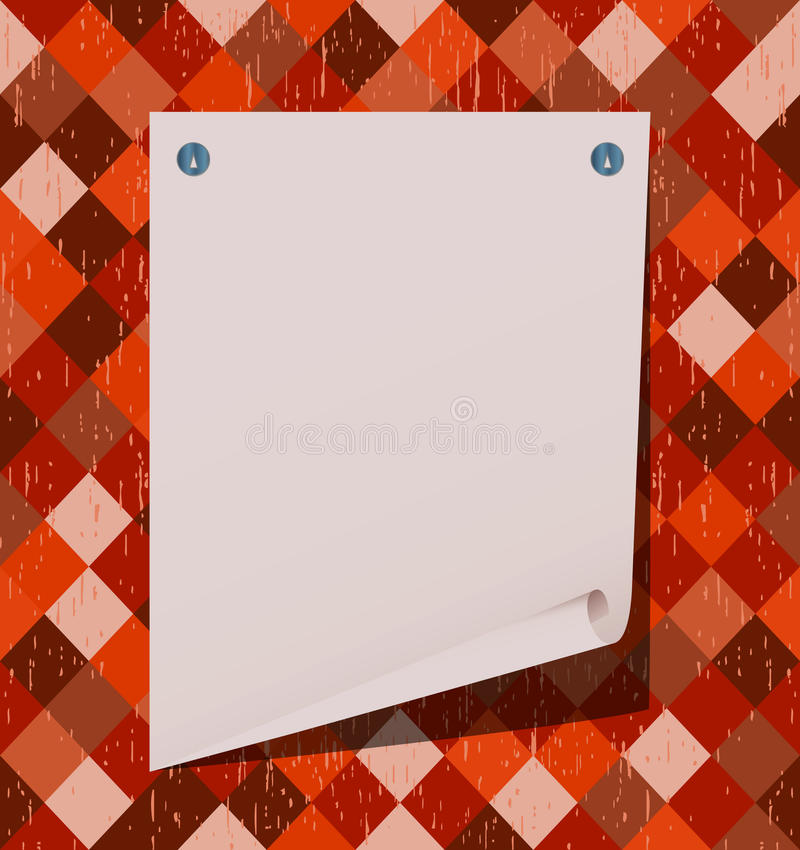The Torn Off Sheet Of Paper Royalty Free Stock Image