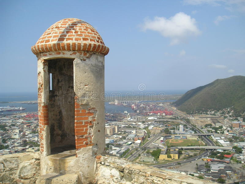 Torn på fortet Solano royaltyfri bild