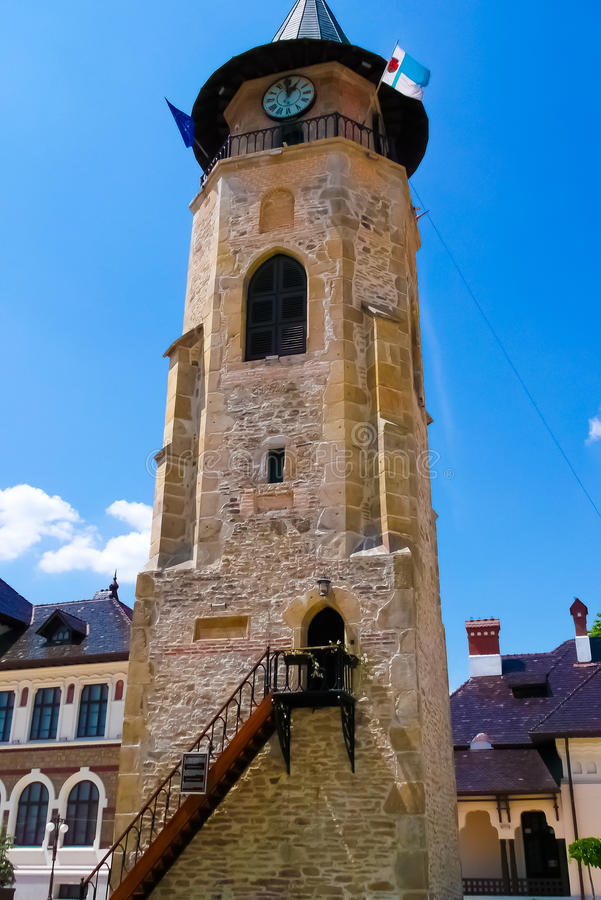 Torn på Piatra Neamt royaltyfria foton