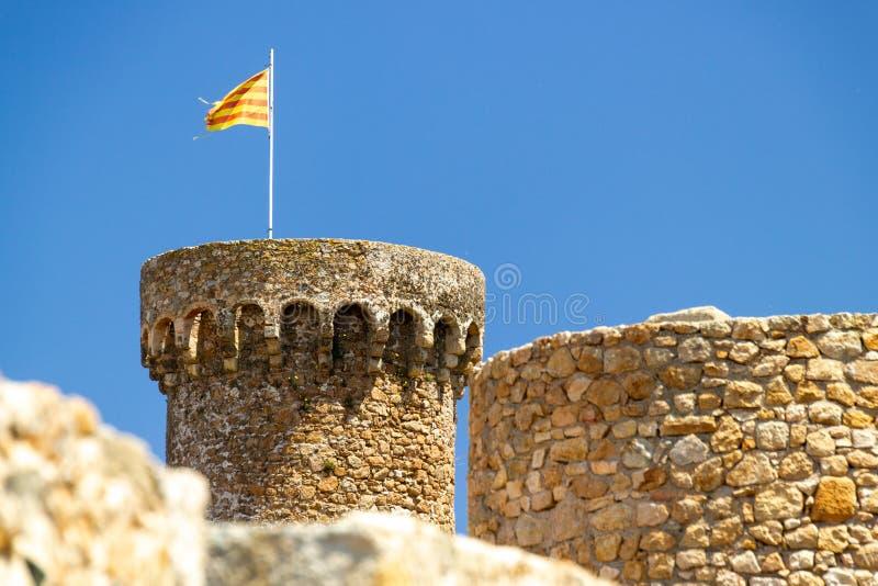 Torn på Tossa de Mar fotografering för bildbyråer