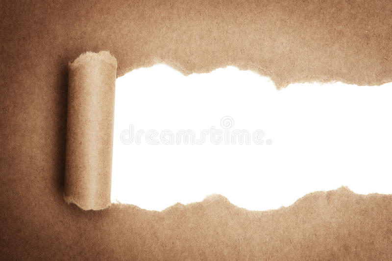 Torn package paper royalty free stock images
