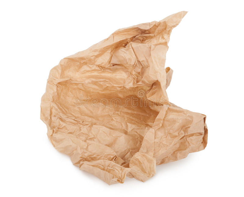 Torn paper bag stock images