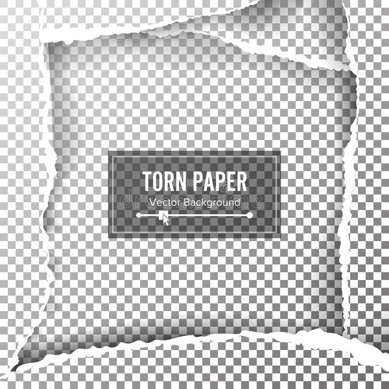 Torn Paper Blank Vector. Ripped Edges With Space For Text. Torn Page Banner For Web And Print. Sale Promo, Advertising, Presentati vector illustration