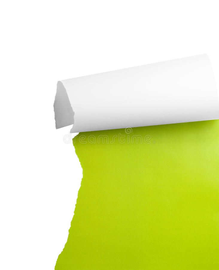 Download Torn paper corner stock photo. Image of damaged, blank - 13534352