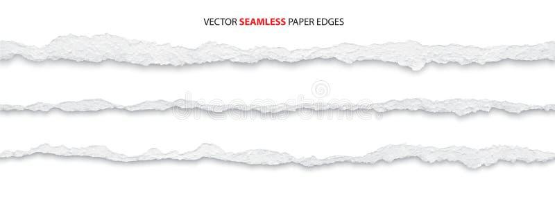 Torn paper edges. Realistic torn paper edges vector stock illustration