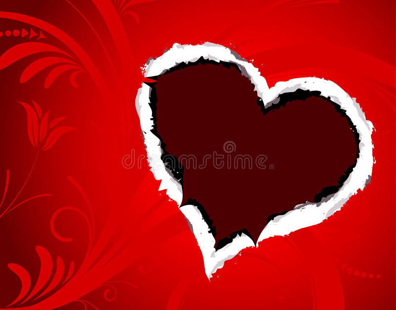 Torn paper with Heart royalty free stock images