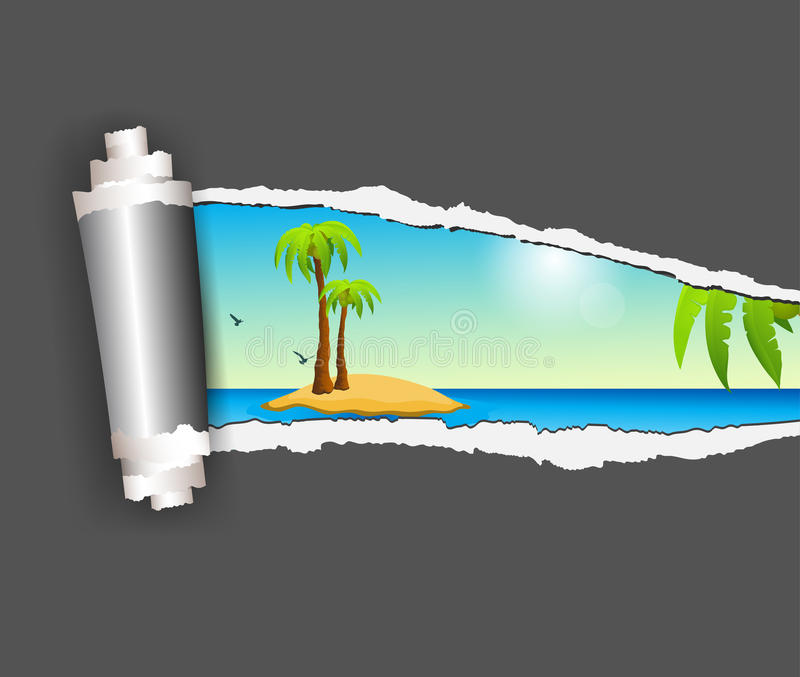 Download Torn paper and island stock vector. Illustration of paper - 30215035