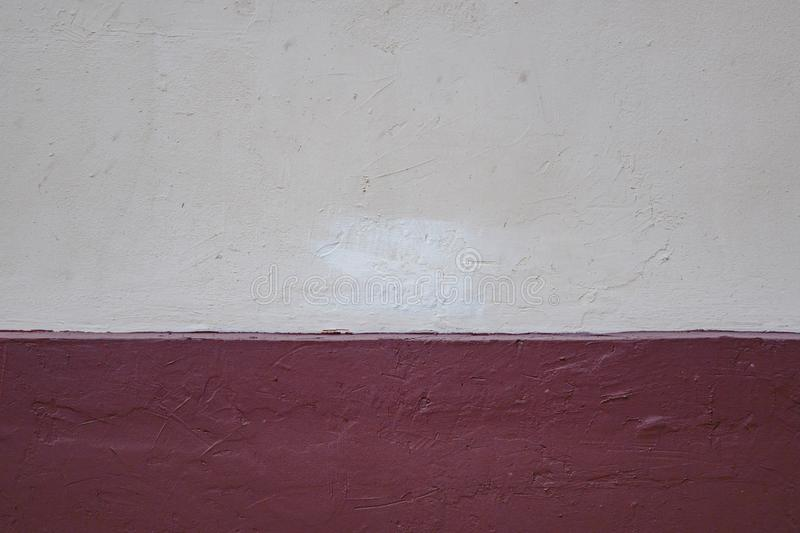 Torn paper over a blank red background for message stock photo