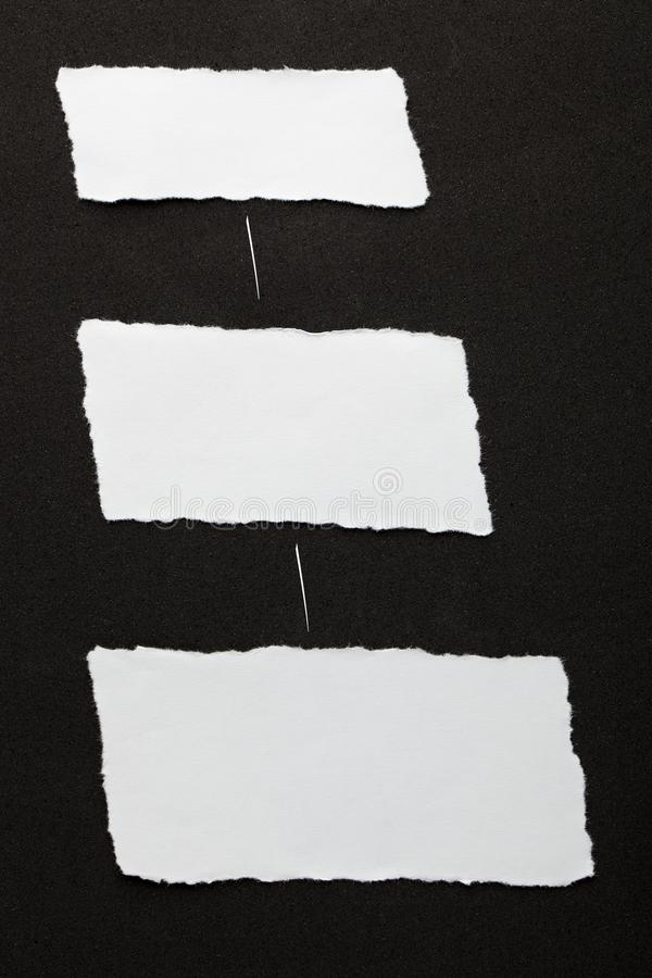 Torn Paper Pieces royalty free stock images