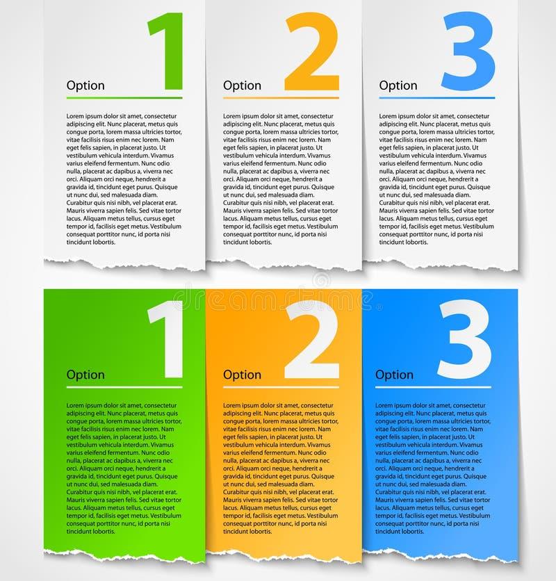 Download Torn Paper Progress Option Background Stock Vector - Image: 24434313
