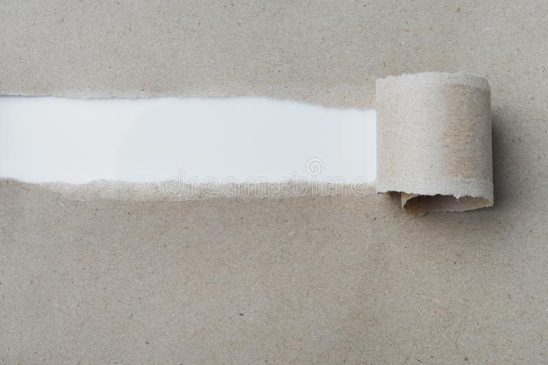 Torn Paper ,recycle Paper with space for text for background.  royalty free stock image