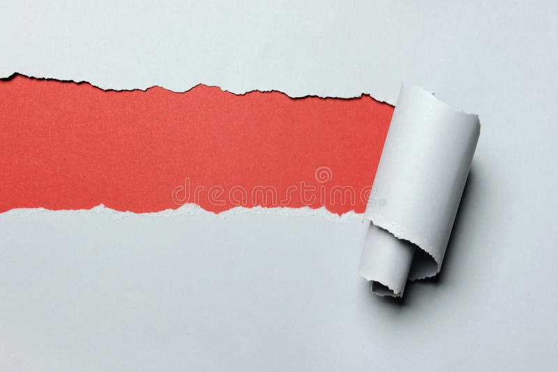 Download Torn Paper With Red Background Stock Image - Image: 16425711