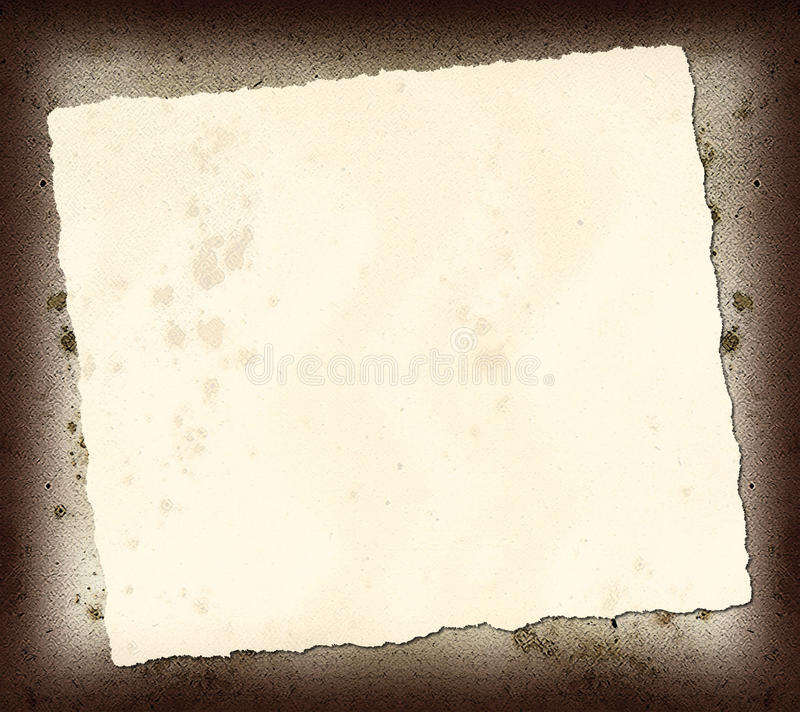 Torn Paper Scrap. This is a torn piece of paper on a rough texture royalty free stock photography